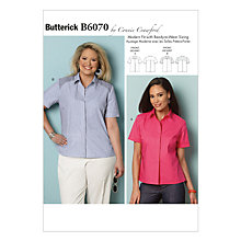 Buy Butterick Women's Loose-Fit Top Sewing Pattern, 6070 Online at johnlewis.com