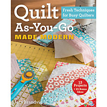 Buy Quilt As You Go Made Modern by Jera Grandvig Book Online at johnlewis.com