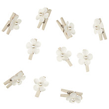 Buy John Lewis Flower Pegs, Pack of 10, Ivory Online at johnlewis.com