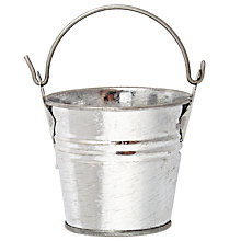 Buy John Lewis Decorative Pail With Handle, Silver Online at johnlewis.com