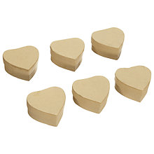 Buy John Lewis Heart Boxes, Pack of 12, Light Brown Online at johnlewis.com