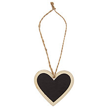 Buy John Lewis Wooden Heart Blackboards, Pack of 5 Online at johnlewis.com