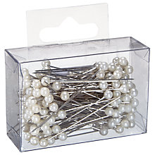 Buy John Lewis Crown Pearl Hair Pin, Pack of 144, White Online at johnlewis.com