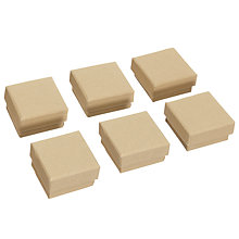Buy John Lewis Square Boxes, Pack of 6, Light Brown Online at johnlewis.com