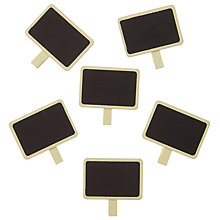 Buy John Lewis Blackboard Clips, Pack of 6, Ivory Online at johnlewis.com