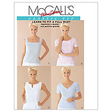 Buy McCall's Women's Classic Fit Top Sewing Pattern, 2818 Online at johnlewis.com