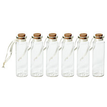Buy John Lewis Mini Bottles, Pack of 6, Light Brown Online at johnlewis.com