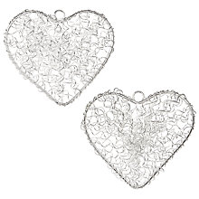 Buy John Lewis Wire Hearts, Ivory, Pack of 2 Online at johnlewis.com