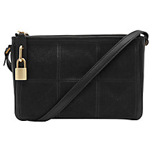 Buy Reiss Filo Stitch Detail Across Body Handbag, Black Online at johnlewis.com