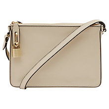 Buy Reiss Double Compartment Bag, Cream Online at johnlewis.com