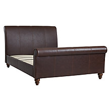 Buy John Lewis Hardwick Bedstead, Brown, Double Online at johnlewis.com