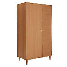 Buy House by John Lewis Button Wardrobe, Oak Online at johnlewis.com
