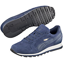 Buy Puma St Runner Suede Trainers, Navy Online at johnlewis.com