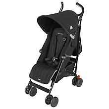 Buy Maclaren Quest Pushchair, Black Online at johnlewis.com