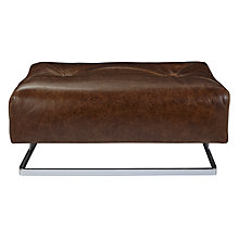 Buy John Lewis Nucleus Leather Footstool, Glaveston Hide Online at johnlewis.com