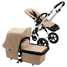 Buy Bugaboo Cameleon3 Pram Base with Classic Sand Fabric Online at johnlewis.com