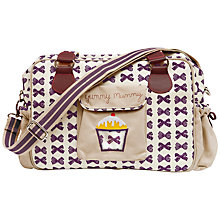 Buy Pink Lining Yummy Mummy Bow Print Changing Bag, Grape Online at johnlewis.com