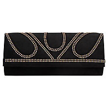 Buy Miss KG Hope Studded Clutch Bag, Black Online at johnlewis.com