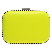 Buy Miss KG Hana Box Clutch Bag, Lime Online at johnlewis.com