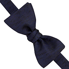 Buy Thomas Pink Totnes Silk Self Tie Bow Tie, Navy/Black Online at johnlewis.com