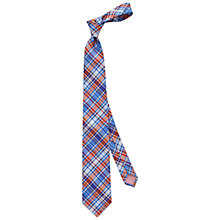 Buy Thomas Pink Bedale Check Woven Silk Tie, Blue/Orange Online at johnlewis.com