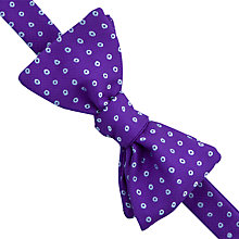 Buy Thomas Pink Epping Spot Silk Self Tie Bow Tie, Purple/Blue Online at johnlewis.com