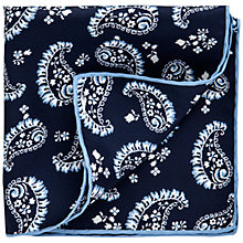 Buy Thomas Pink Paisley Silk Pocket Square, Navy/White Online at johnlewis.com
