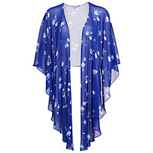 Buy Gina Bacconi Oriental Flower Shawl, Carbon Blue Online at johnlewis.com