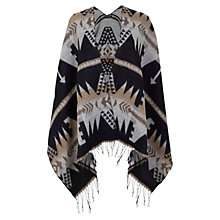 Buy Miss Selfridge Petite Aztec Striped Cape, Multi Online at johnlewis.com
