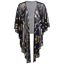 Buy Gina Bacconi Stretch Mesh Shawl, Navy/Gold Online at johnlewis.com
