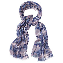 Buy White Stuff Little Geo Scarf, Blue Online at johnlewis.com