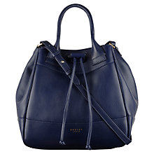 Buy Radley Holland Park Small Drawstring Bucket Bag, Navy Online at johnlewis.com