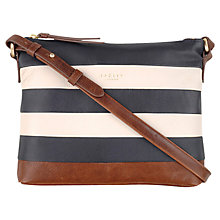 Buy Radley Putney Small Leather Across Body Bag, Navy Online at johnlewis.com