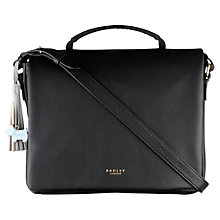 Buy Radley London Fields Large Leather Across Body Bag, Black Online at johnlewis.com