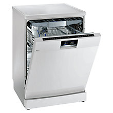 Buy Siemens SN278W01TG Ultra-efficient 14 Place Freestanding Dishwasher, White Online at johnlewis.com