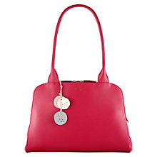 Buy Radley Millbank Leather Medium Tote Bag, Mulberry Pink Online at johnlewis.com