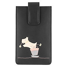 Buy Radley Flora Radleus Leather iPhone Case, Black Online at johnlewis.com