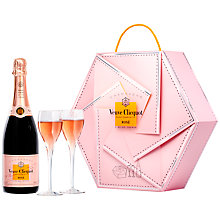 Buy Veuve Clicquot Rosé Collection Flute Gift Set Online at johnlewis.com