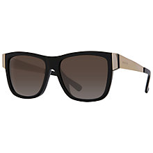 Buy Gucci GG3718/S Rectangular Framed Sunglasses, Black Online at johnlewis.com