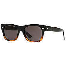 Buy Gucci GG1078/S Rectangular Framed Sunglasses, Black Online at johnlewis.com