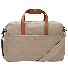 Buy John Lewis Madison Canvas Flight Bag, Putty Online at johnlewis.com