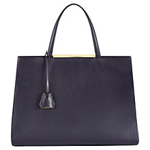 Buy Jaeger Marylebone Nappa Leather Tote Bag, Midnight Online at johnlewis.com