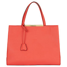 Buy Jaeger Marylebone Nappa Leather Tote Bag, Pink/Red Online at johnlewis.com