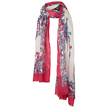 Buy Fat Face Floral Butterfly Scarf, Cream Online at johnlewis.com