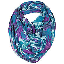 Buy Fat Face Jungle Flower Snood, Blue Online at johnlewis.com