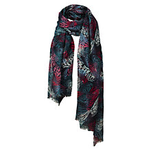 Buy Fat Face Butterfly Wing Scarf, Navy/White Online at johnlewis.com
