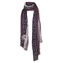 Buy Fat Face Indian Sequin Scarf, Purple Online at johnlewis.com