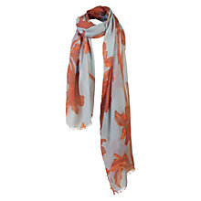 Buy Fat Face Lilies Scarf, Turquoise Online at johnlewis.com