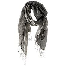 Buy Poetry Double Linen Scarf, Monochrome Online at johnlewis.com