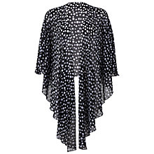Buy Gina Bacconi Spot Print Chiffon Shawl, Black/White Online at johnlewis.com